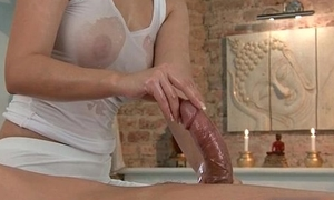 Prex babe down a wet t-shirt gives